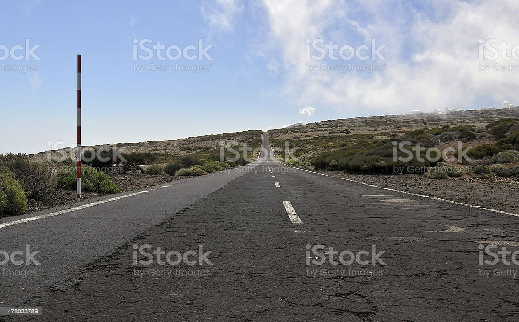Road to the Observatory. royalty-free stock photo