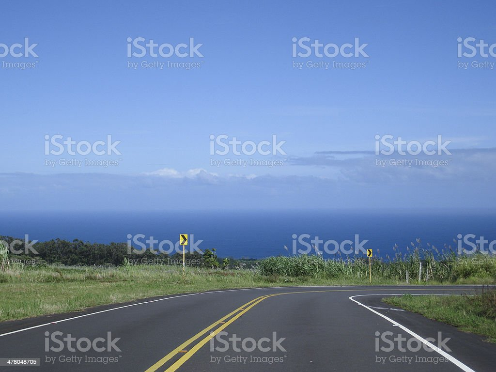 Road to the ocean. stock photo