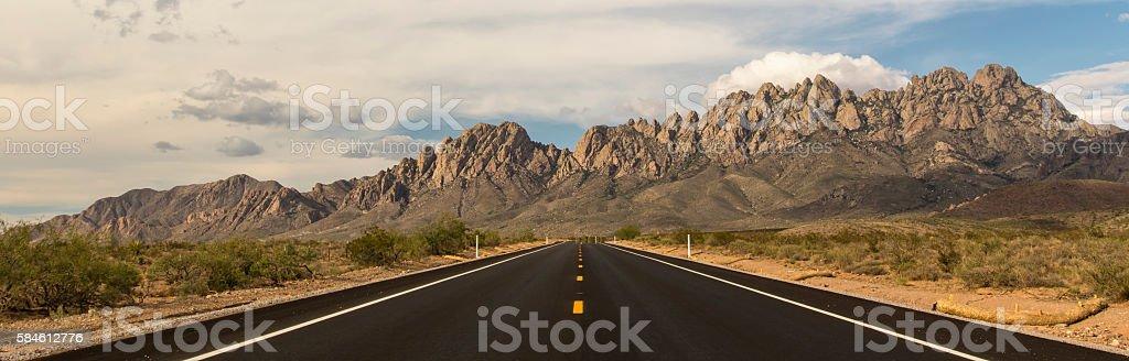 Road to the Organ Mountains stock photo