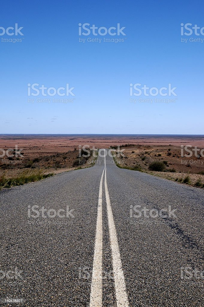 Road to the Outback Plains stock photo