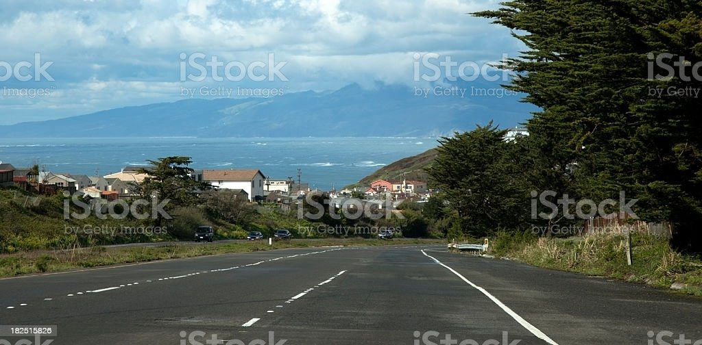 Road to the Pacific stock photo