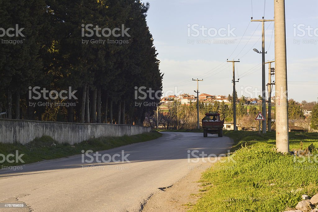Road, the village Lizenzfreies stock-foto