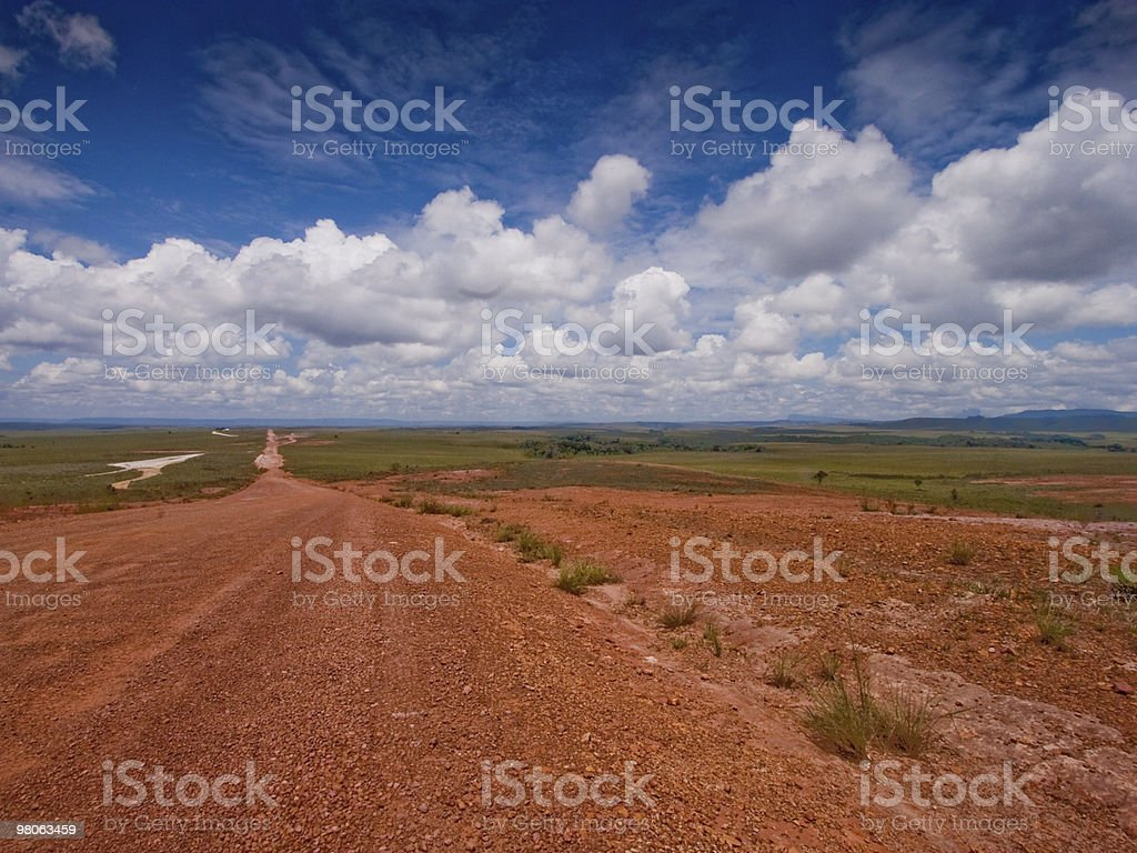 Road to the world?s end 'La gran sabana' royalty-free stock photo