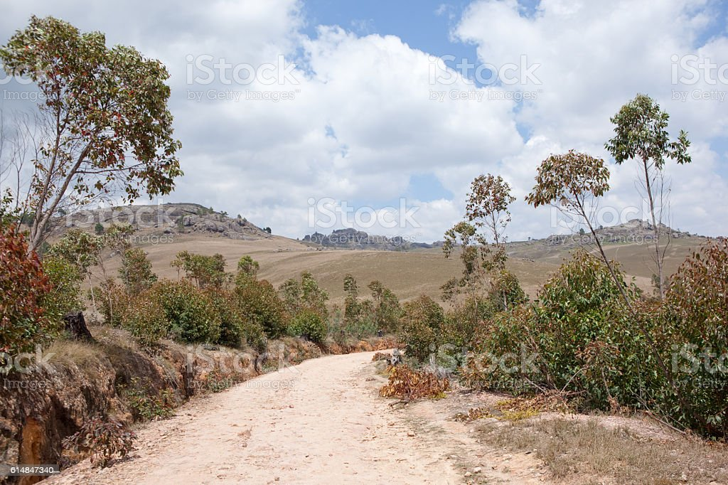 Road to the Zafinamiry Villages, Madagascar stock photo