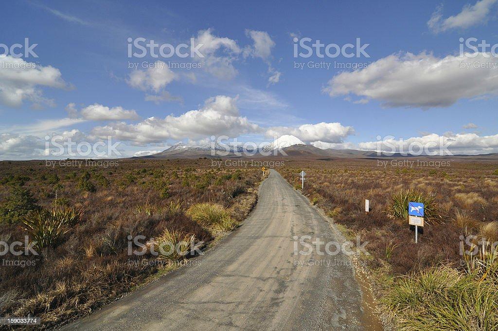 Road to Tongariro stock photo