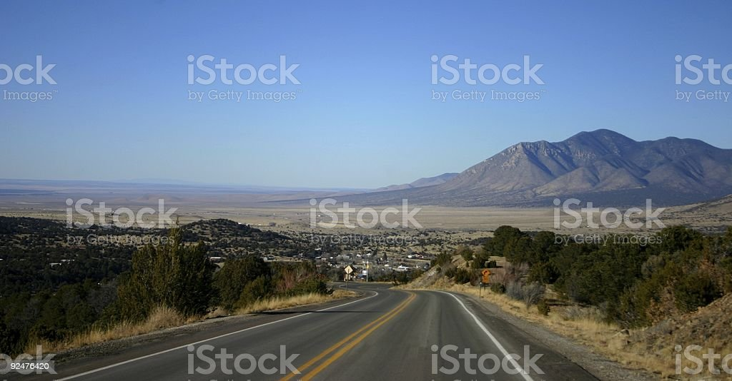 Road to Town royalty-free stock photo