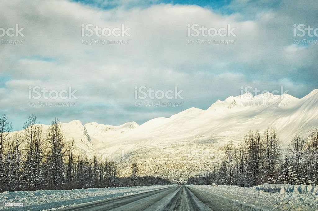 Road to Valdez - A Mighty Fortress stock photo