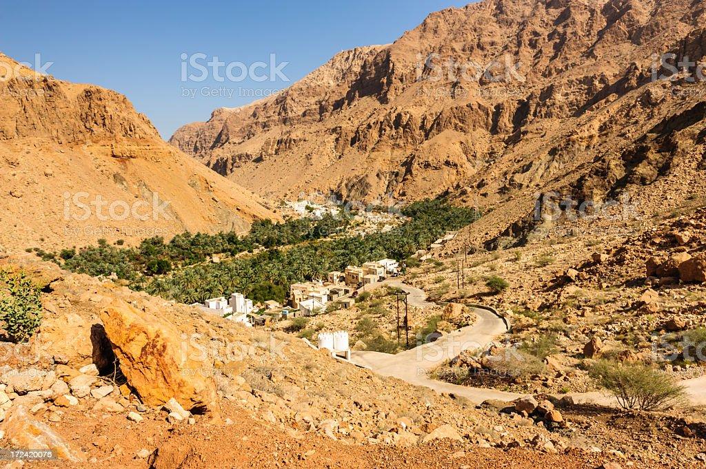Road to Wadi Tiwi royalty-free stock photo