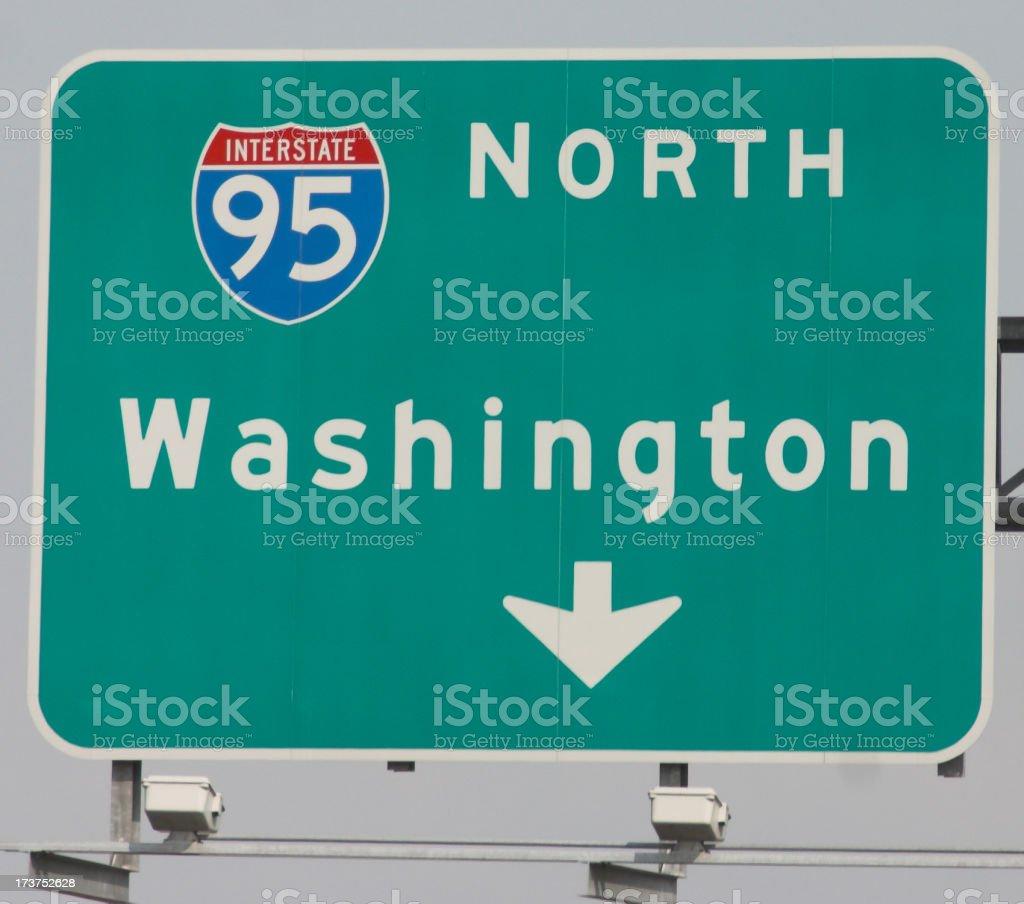 Road to Washington stock photo