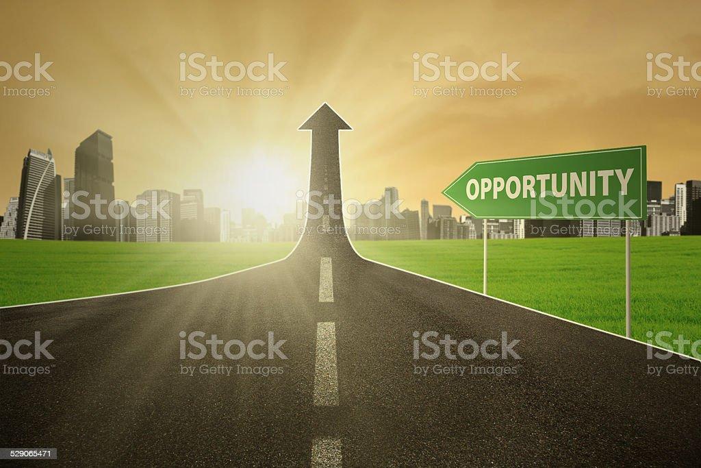 Road toward the opportunity stock photo