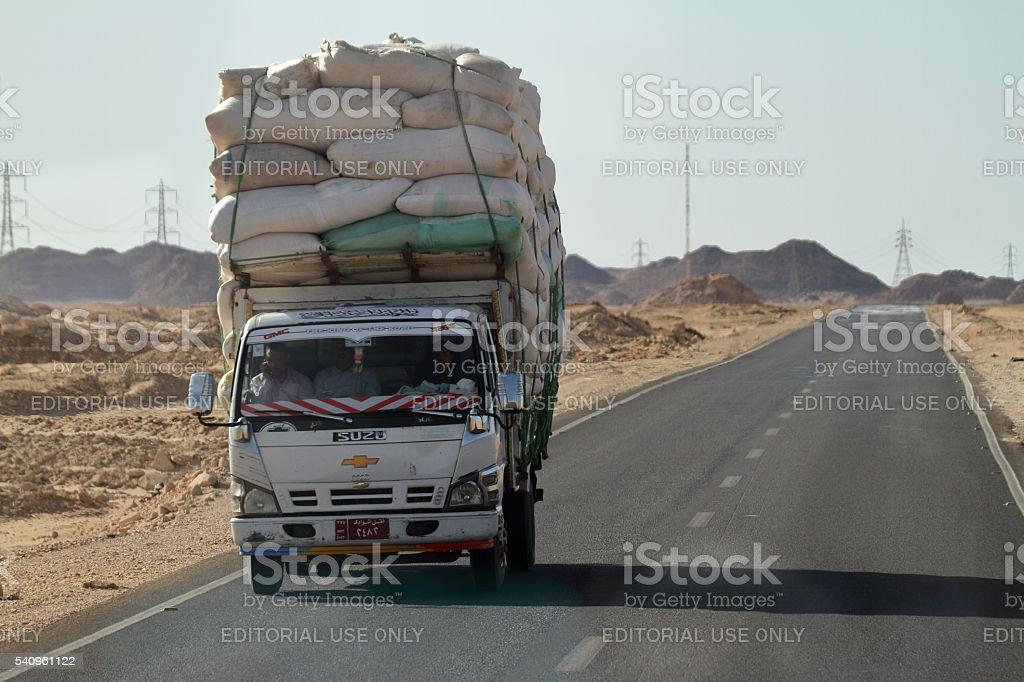 Road Traffic and Transport in Egypt stock photo