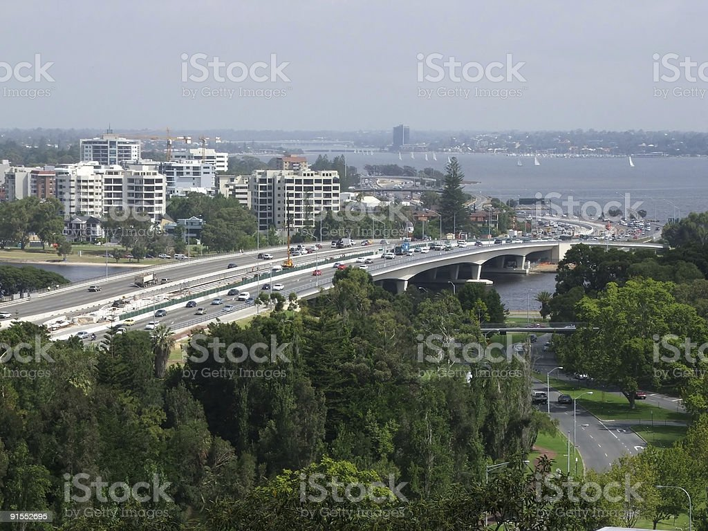 Road - traffic flow stock photo