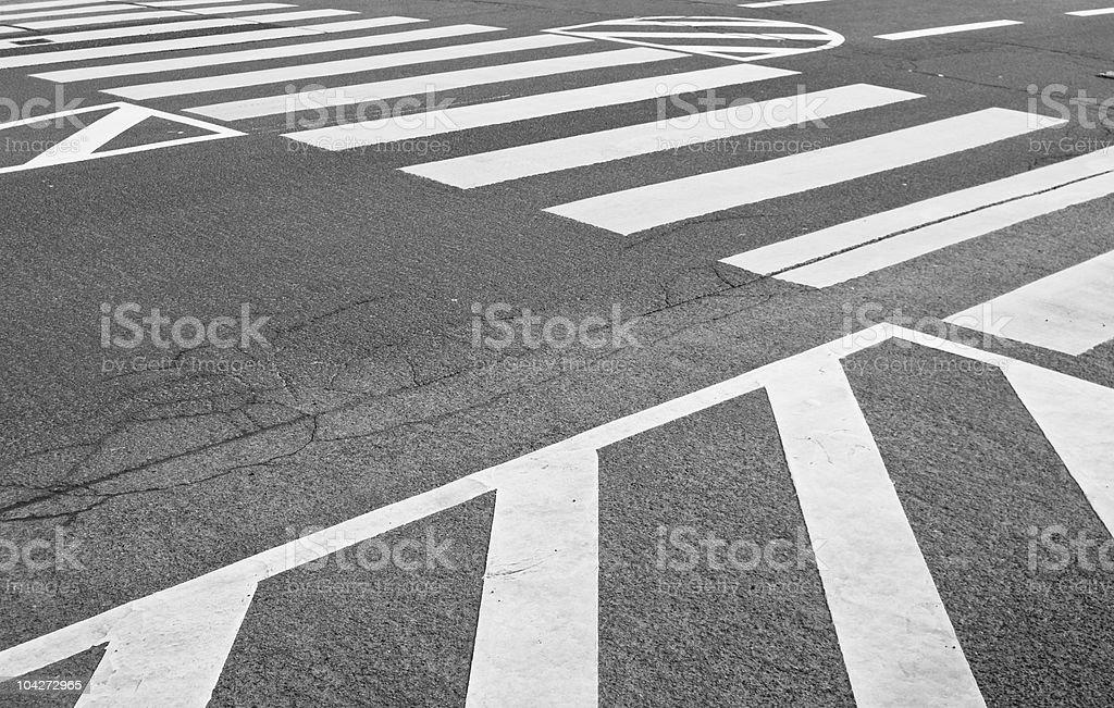 Road traffic markings stock photo