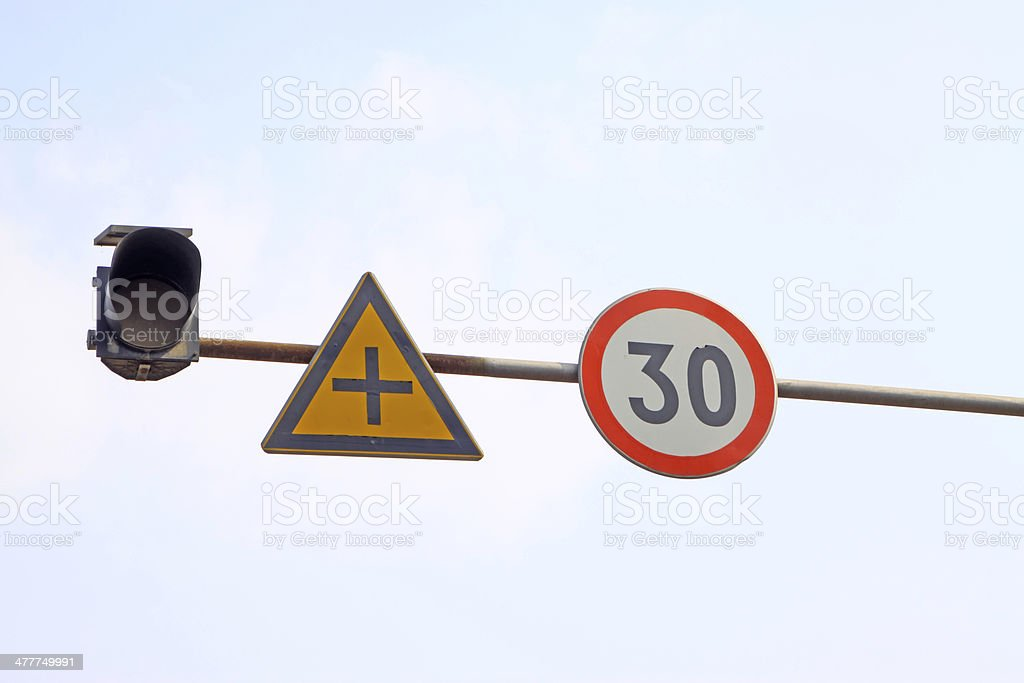 road traffic signs royalty-free stock photo