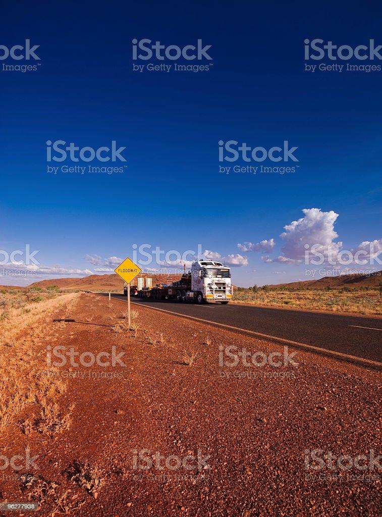 Road Train in Pilbara Western Australia royalty-free stock photo