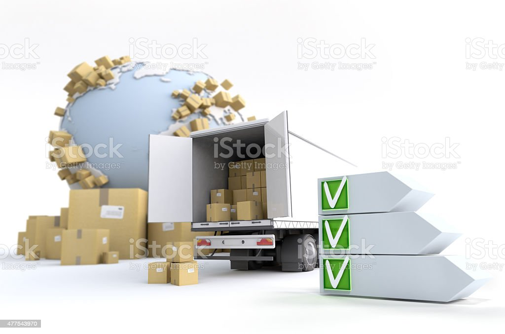 Road Transport checklist stock photo