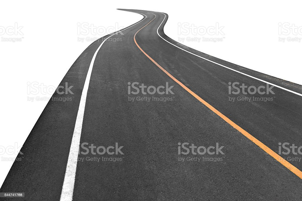Road transport going to the distance stock photo