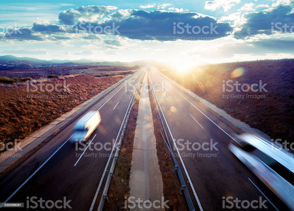 Road transport. stock photo