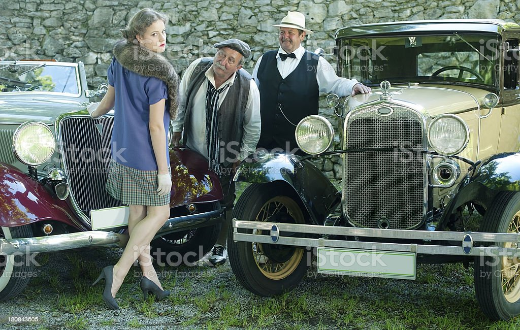Road Trip 1930 Style royalty-free stock photo