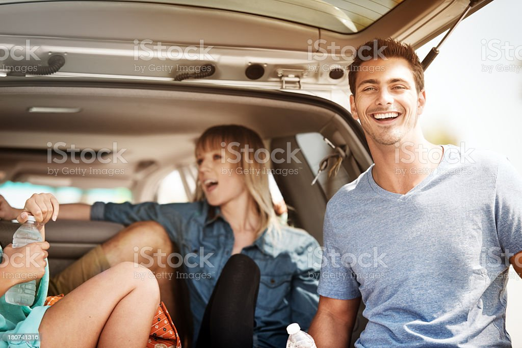 Road trip break royalty-free stock photo