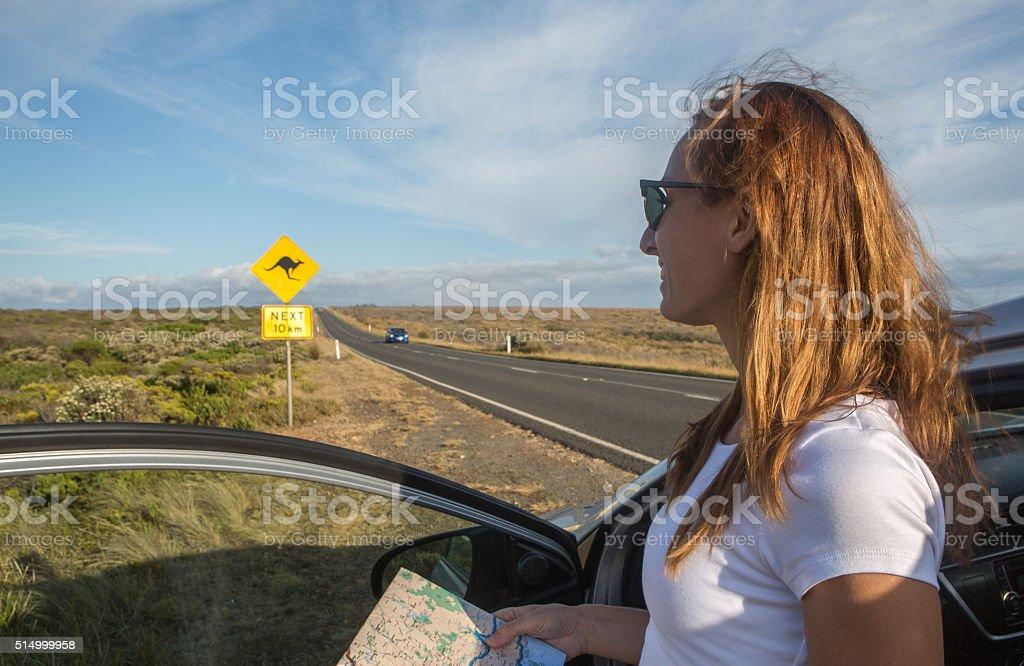 Road trip in Australia stock photo