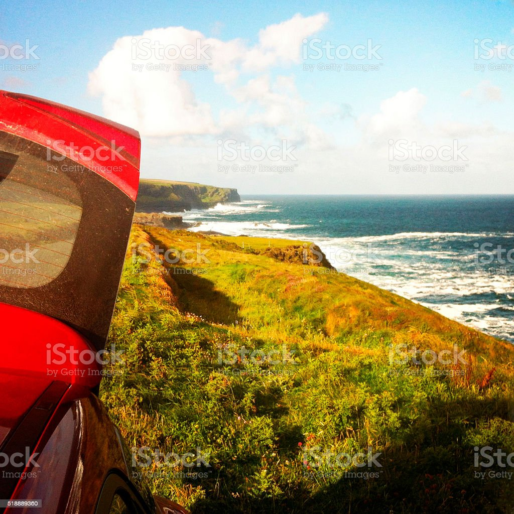 Road trip in Ireland stock photo