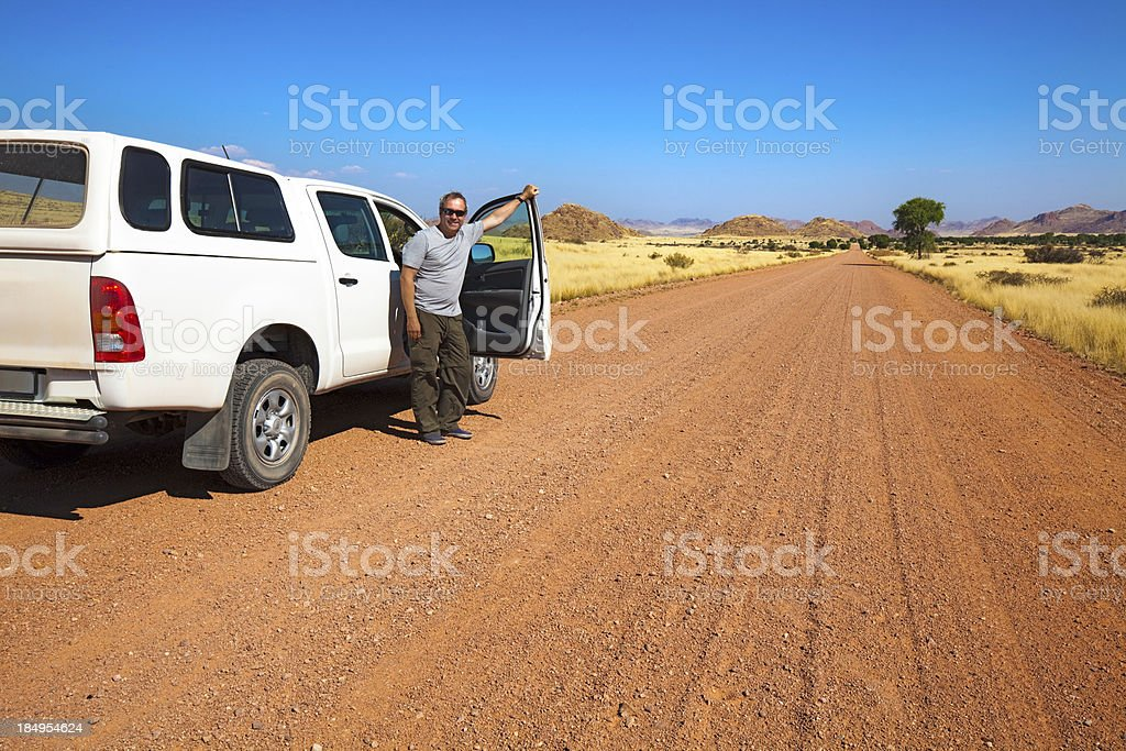 Road trip in Namibia royalty-free stock photo