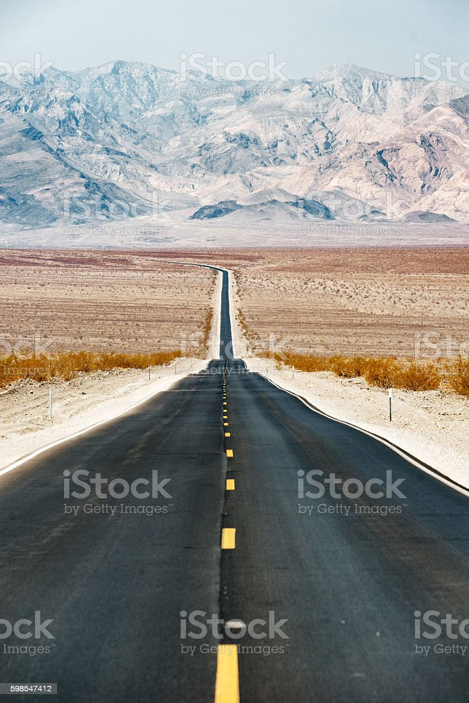 Road Trip in USA - Death Valley stock photo
