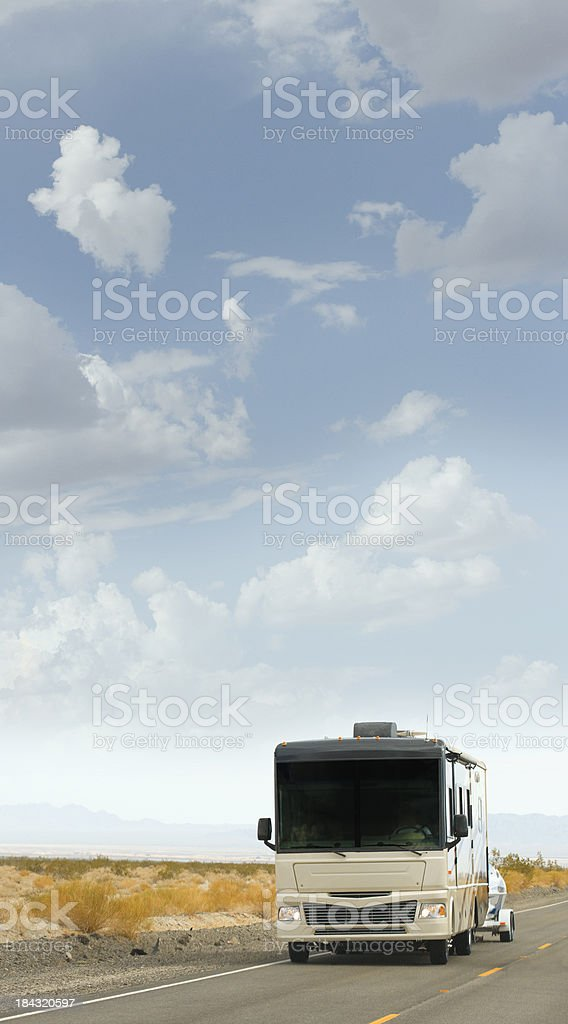 RV road trip royalty-free stock photo