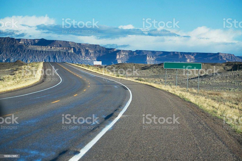 road trip sign landscape stock photo