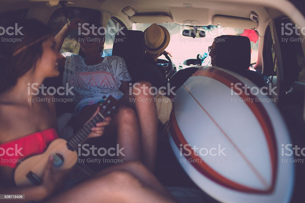 Road trip time stock photo