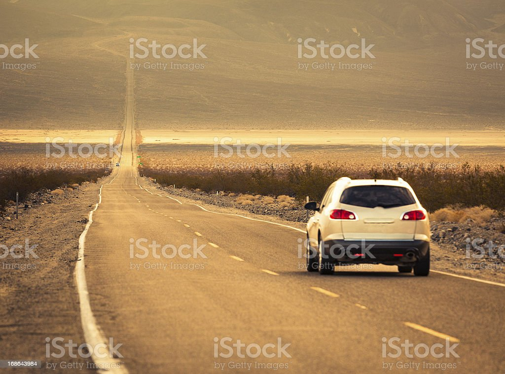 Road trip to Death Valley stock photo