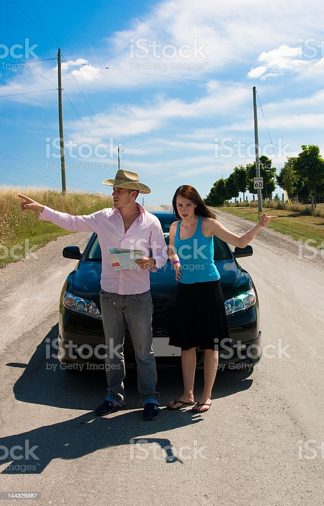Road Trip - We go here royalty-free stock photo