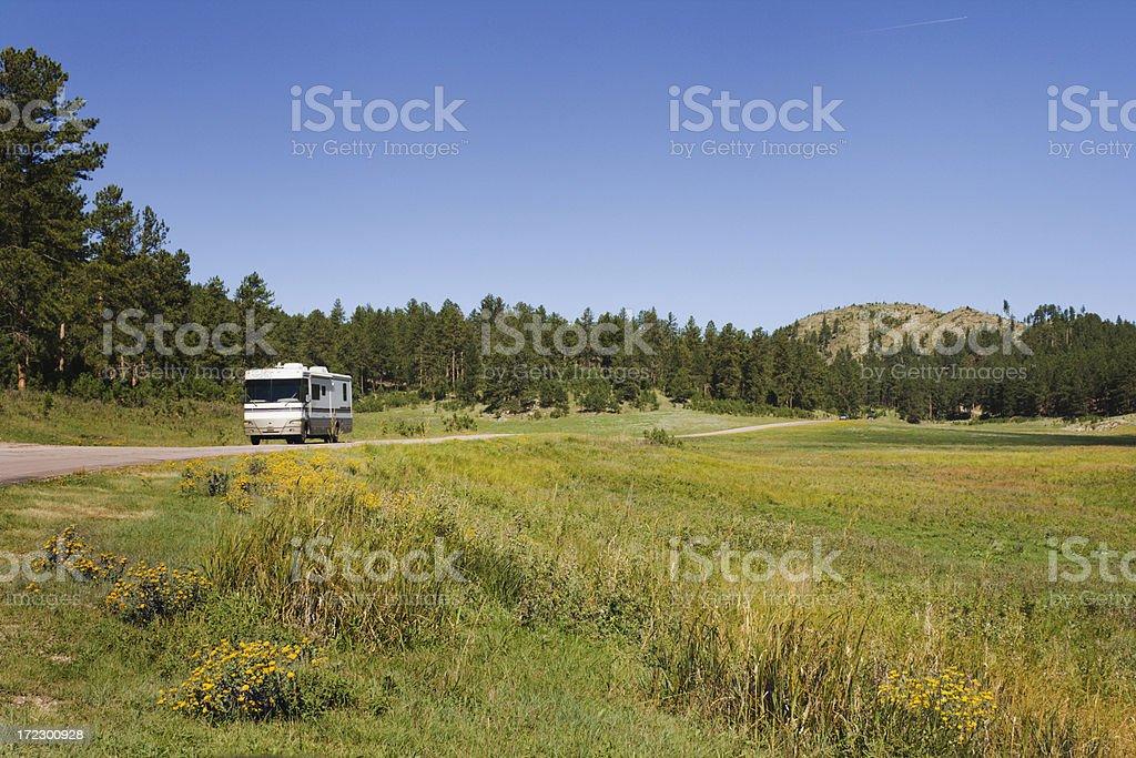 RV Road Trip, Western Custer State Park, South Dakota royalty-free stock photo