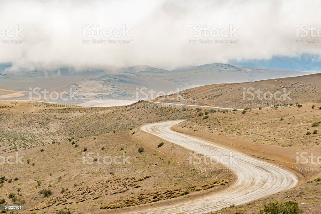 Road trough Mountains Scene Ecuador1208485 stock photo