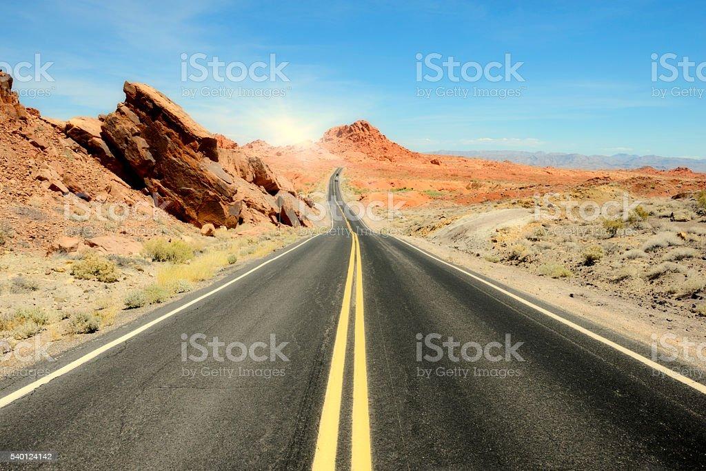 Road, Valley of Fire, Arizona stock photo