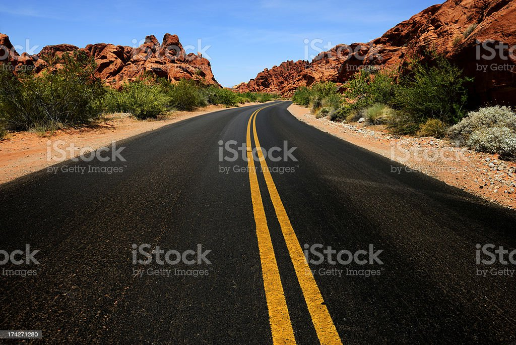 Road, Valley of Fire, Nevada stock photo