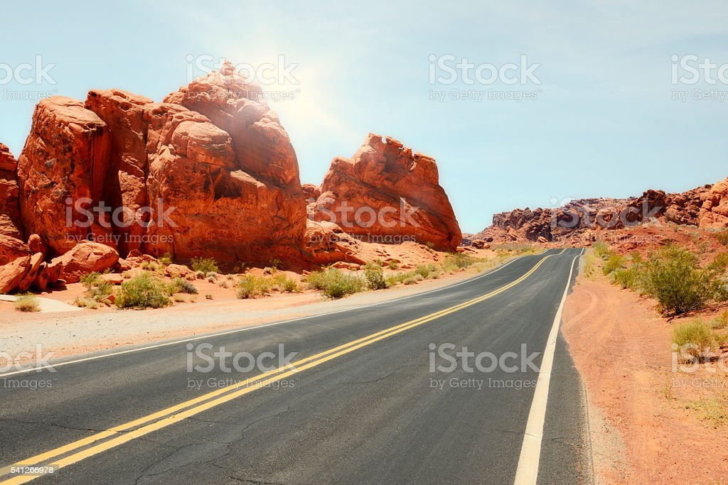 Road, Valley of Fire stock photo