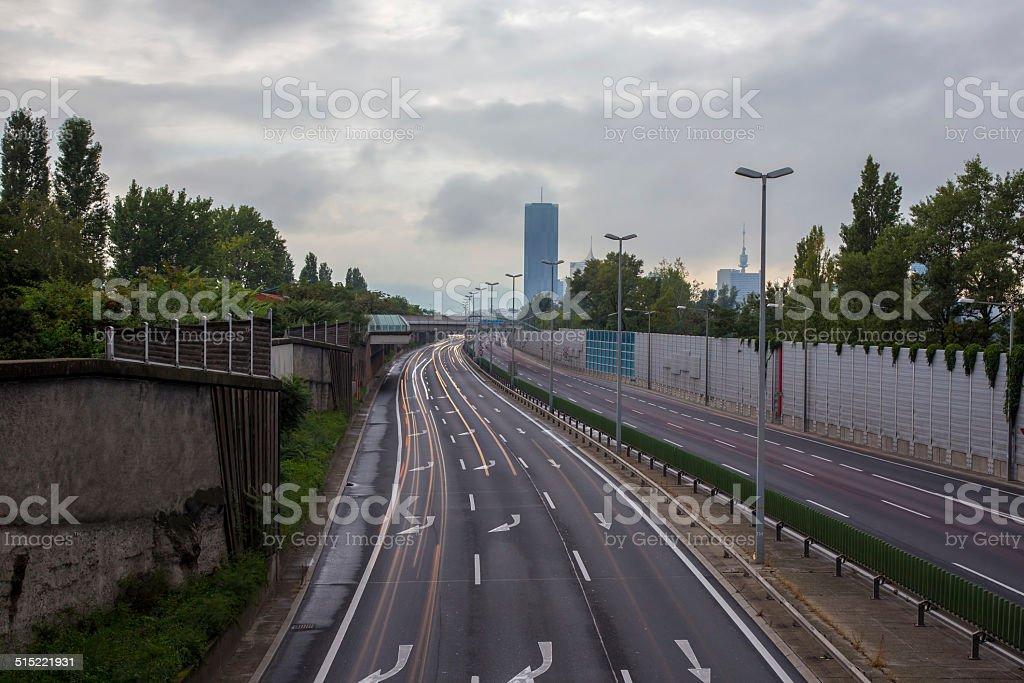 Road Vienna stock photo