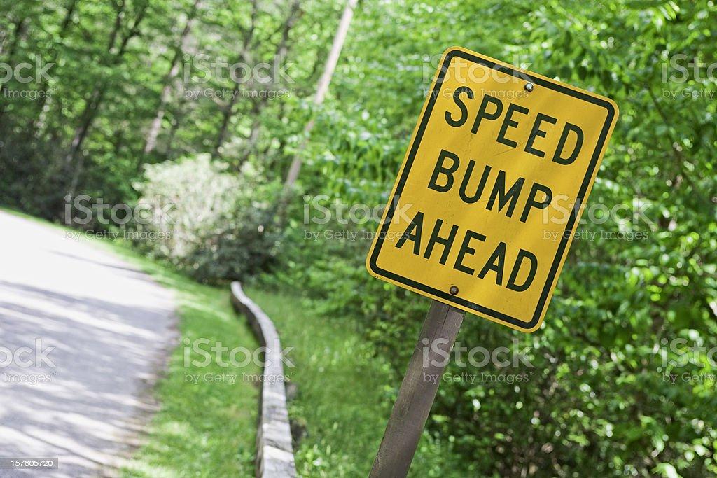 Road warning sign stock photo