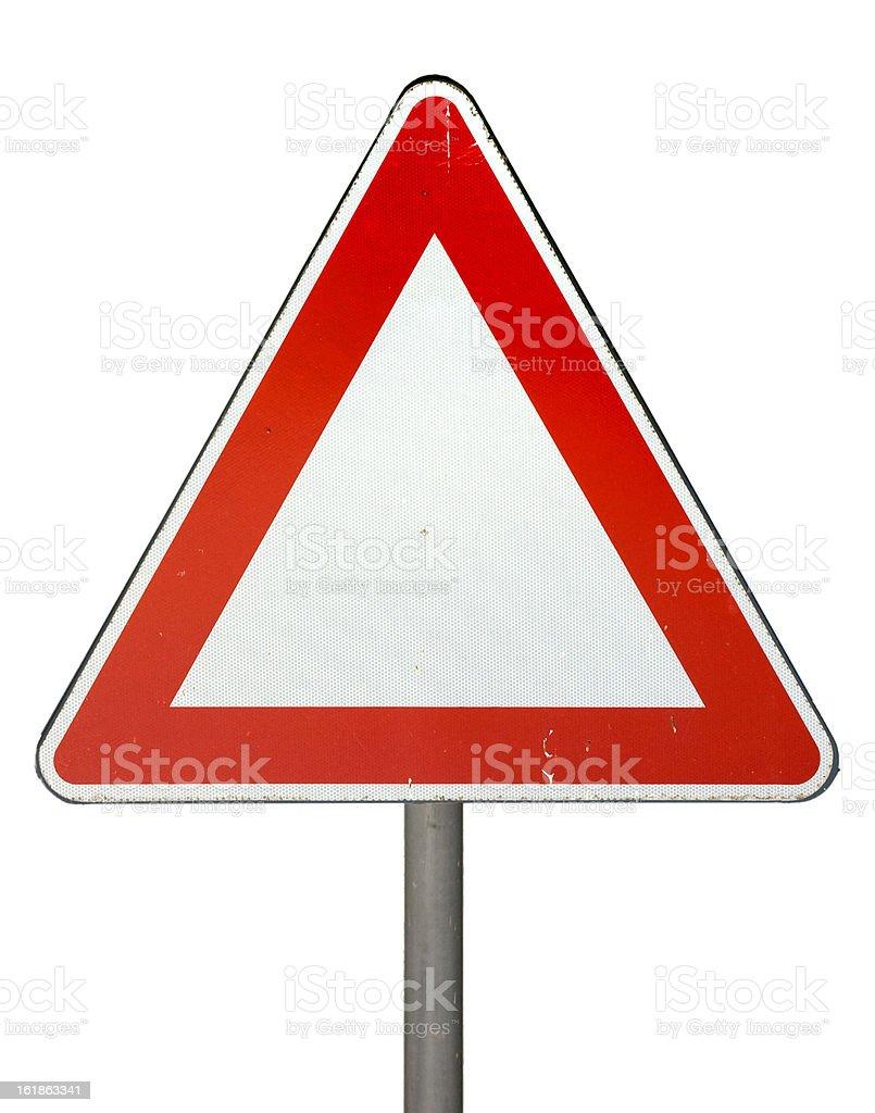Road Warning Sign. stock photo