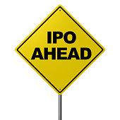 IPO AHEAD - Road Warning Sign