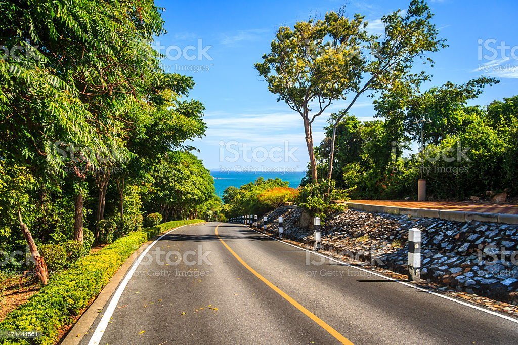 Road Way To The Beach royalty-free stock photo