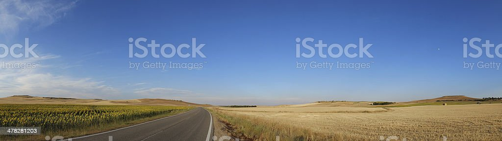 Road Wide Panoramic View royalty-free stock photo