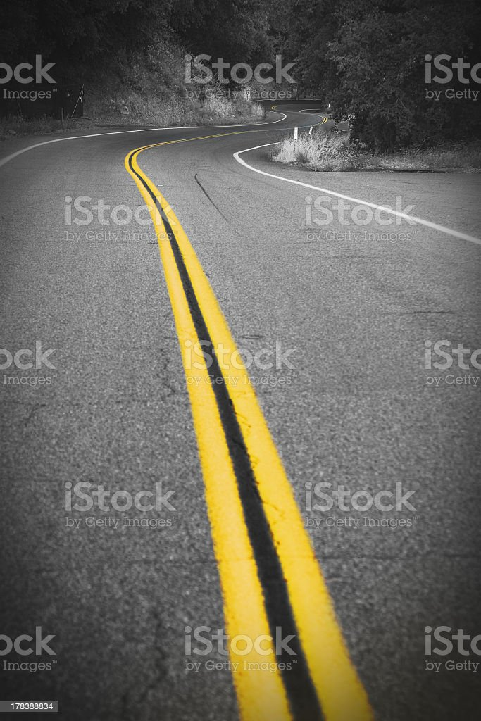 road with many turns stock photo