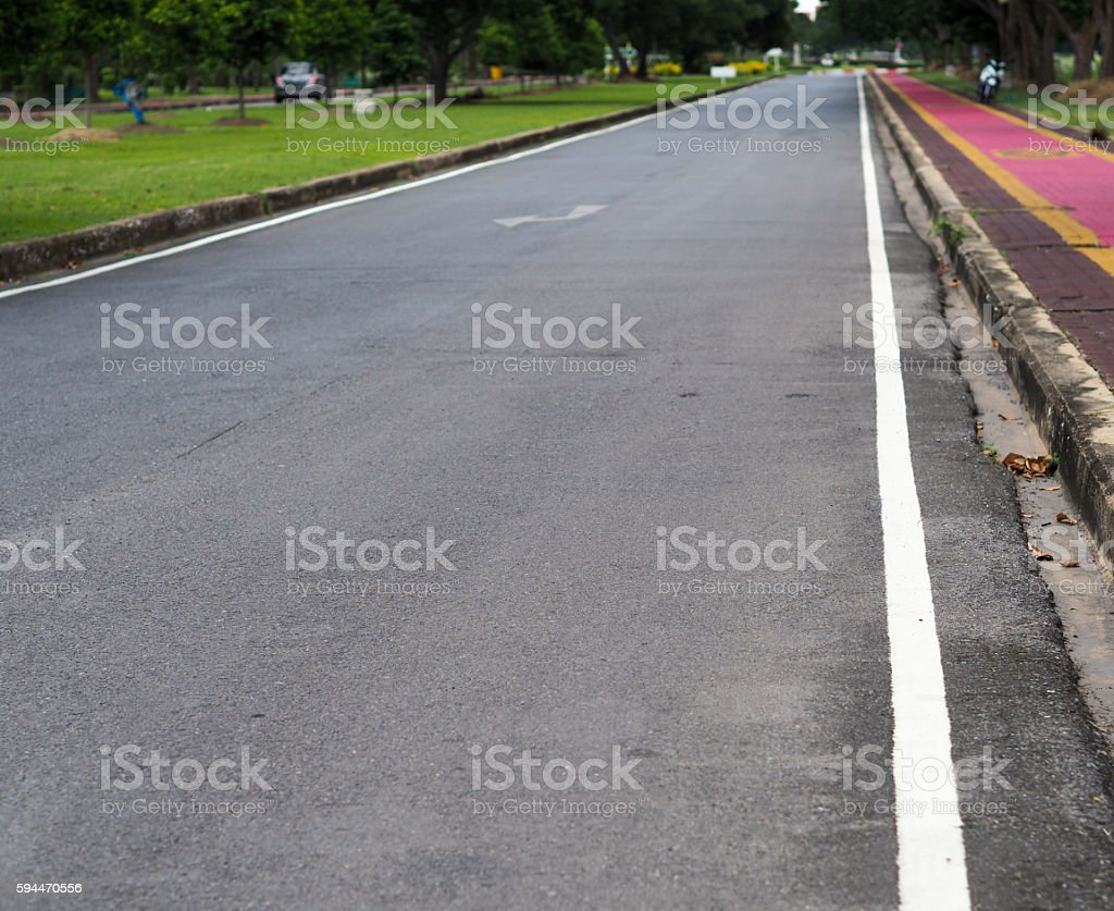Road with no car stock photo