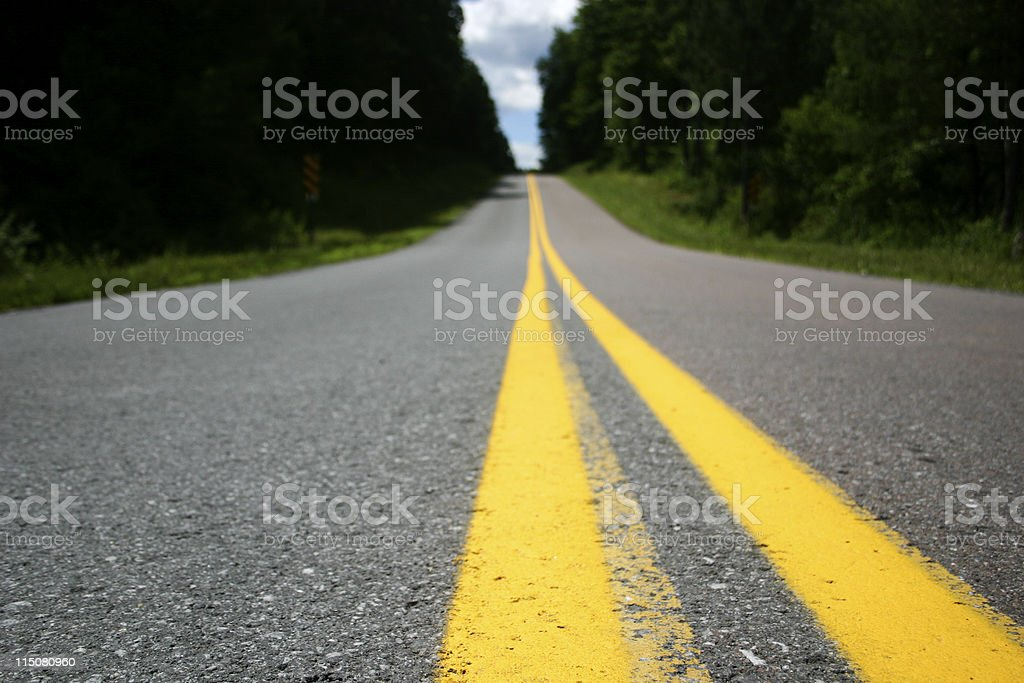 Road with stripes (DOF) stock photo