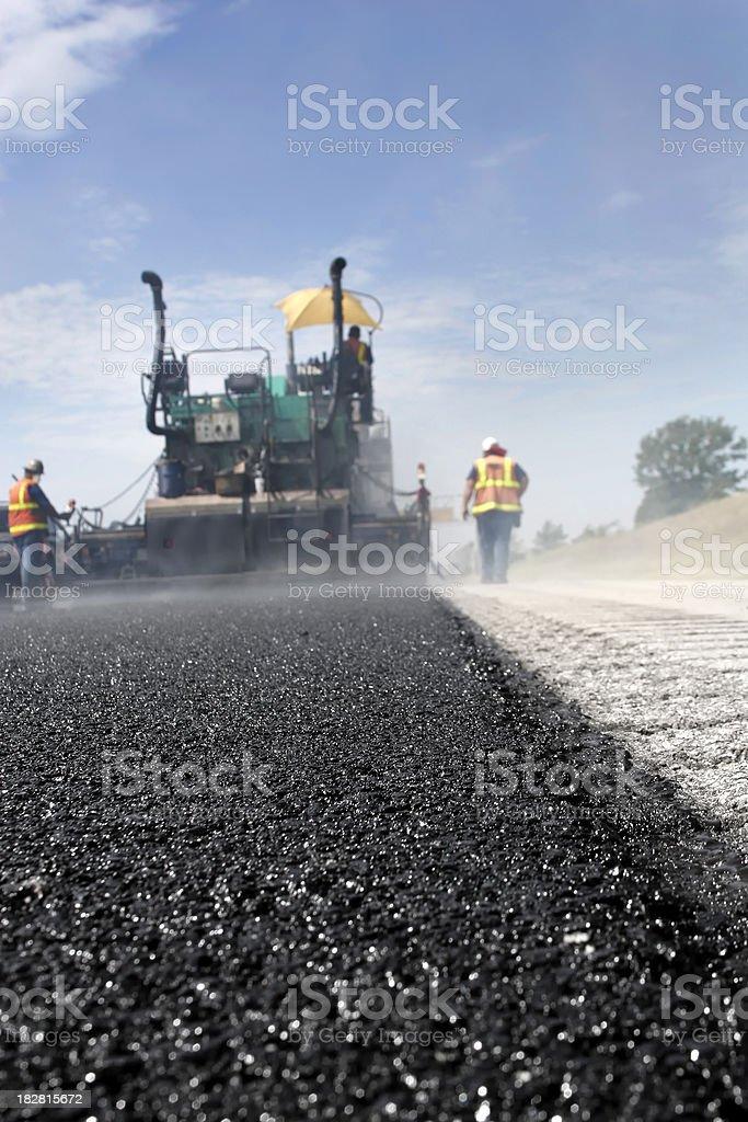 Road Work Asphalt stock photo