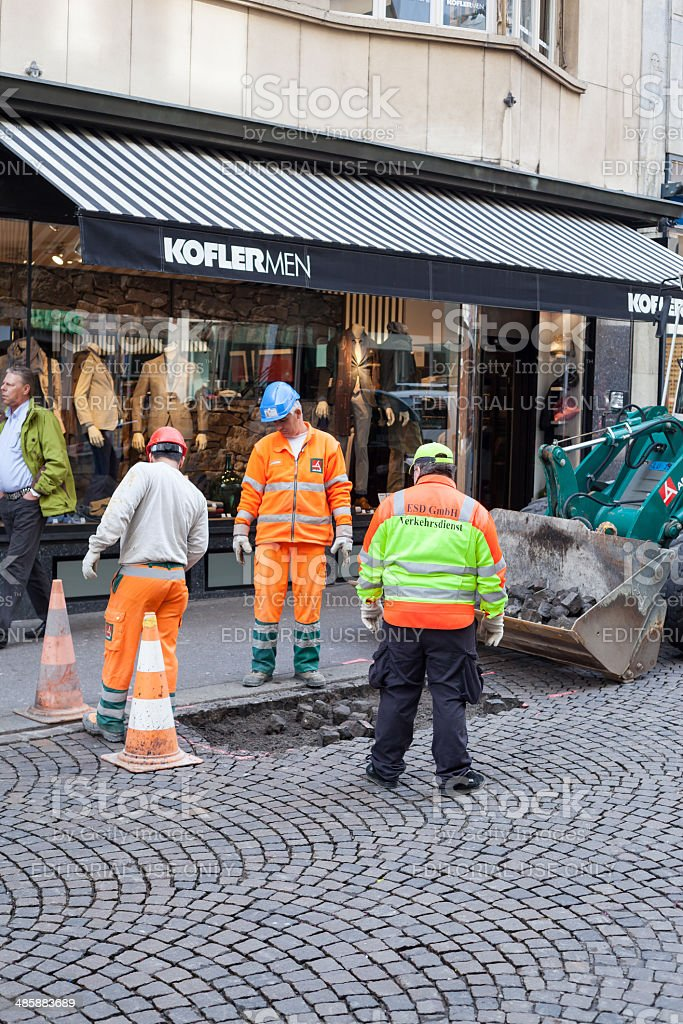 Road Work in Lucerne stock photo