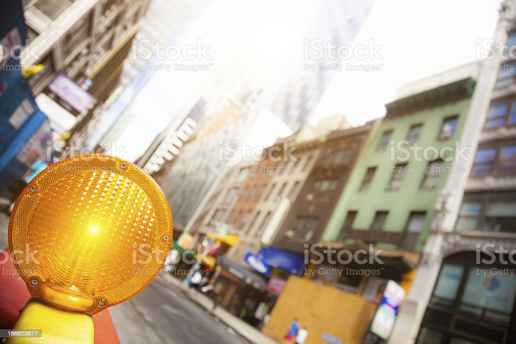 Road work in the city street royalty-free stock photo